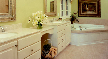 Bathroom Remodeling New Cabinets Countertop Installation